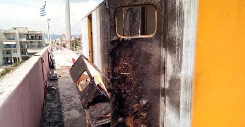 Φωτιά στο υπό ανακαίνιση ΕΑΚ Βόλου