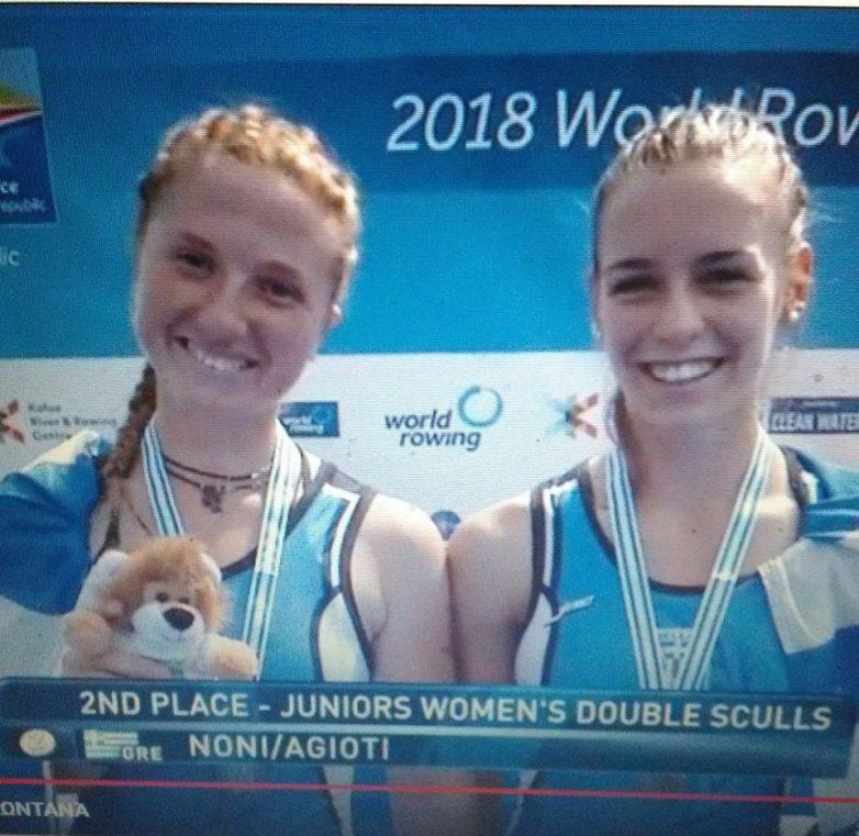 Aσημένια μετάλλια στο παγκόσμιο πρωτάθλημα κωπηλασίας Νεανίδων-Εφήβων