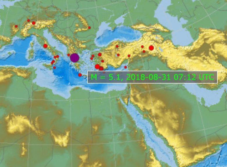 Ισχυρή σεισμική δόνηση 5 Ρίχτερ στα Τρίκαλα