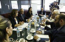 Σύσκεψη με τον Ευρωπαίο επίτροπο Δημ. Αβραμόπουλο στο Υπουργείο Προστασίας του Πολίτη