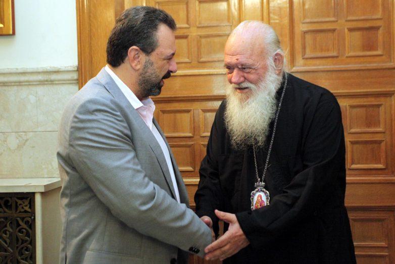 Συνάντηση υπουργού Αγροτικής Ανάπτυξης και Τροφίμων-Αρχιεπισκόπου Ιερώνυμου