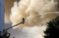 Μεγάλη πυρκαγιά στο Πανεπιστήμιο Ηρακλείου στην Κρήτη