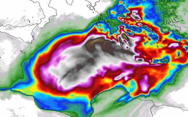 Από το βράδυ αναμένεται να πλήξει την Ελλάδα ο μεσογειακός κυκλώνας