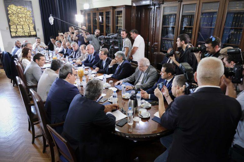 Συνάντηση του Πρωθυπουργού, Αλέξη Τσίπρα με εκπροσώπους παραγωγικών φορέων από τη βόρεια Ελλάδα