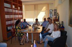 Συνάντηση υφυπουργού Εσωτερικών-δημάρχου Ρήγα Φεραίου