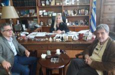Εθιμοτυπική επίσκεψη διοίκησης  του ΟΛΒ στην αντιπεριφερειάρχη ΠΕΜΣ