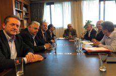 Συνάντηση υπουργού Παιδείας Κ. Γαβρόγλου  με τον περιφερειάρχη Θεσσαλίας Κ. Αγοραστό και αντιπεριφερειάρχες