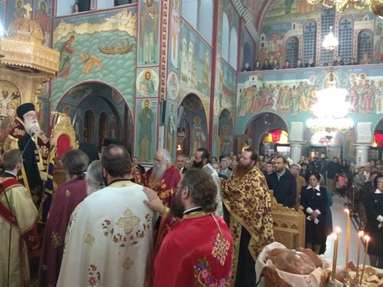 Πάνδημος ο εορτασμός του Αγίου Δημητρίου στην Μητρόπολη Δημητριάδος