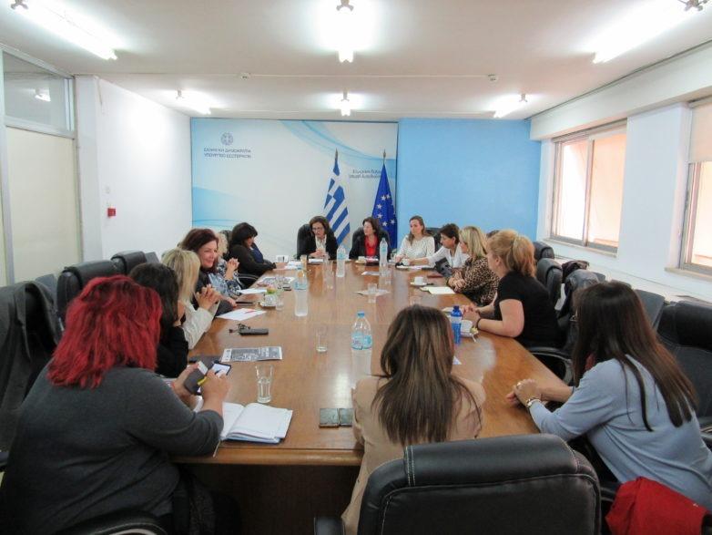 Συνάντηση εργασίας υφυπουργού Εσωτερικών Μ. Χρυσοβελώνη με αιρετές της Επιτροπής Ισότητας Φύλων της ΚΕΔΕ