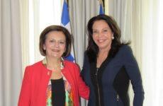 Συνάντηση υφυπουργού Εσωτερικών Μ. Χρυσοβελώνη με την πρόεδρο του Πανελληνίου Αθλητικού Σωματείου Γυναικών