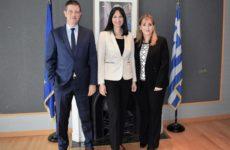 Συνάντηση υπουργού Τουρισμού  -πρόεδρου και διευθύνουσας συμβούλου του WTTC