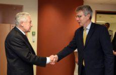 Διμερής συνάντηση  ΥΝΑΝΠ με τον πρέσβη των ΗΠΑ στην Ελλάδα Geoffrey R. Pyatt