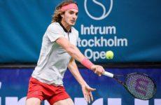 Ο Στέφανος Τσιτσιπάς στον τελικό του Stockholm Open