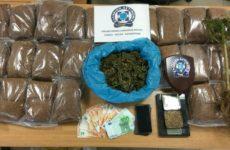 Συνελήφθη με κάνναβη  κι αφορολόγητο καπνό