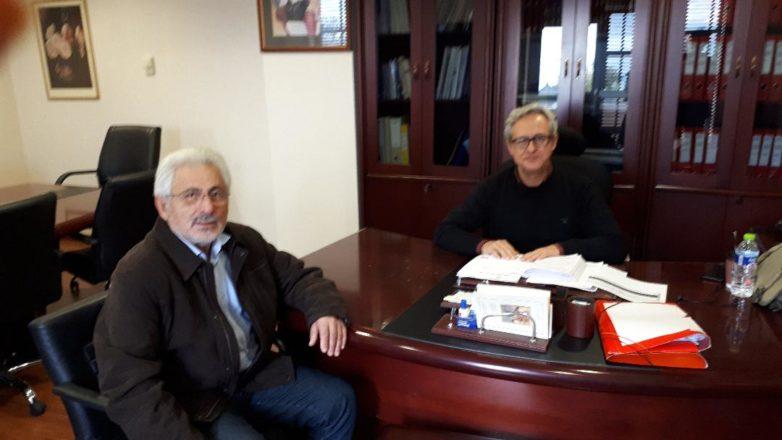 Συνάντηση συντονιστή Αποκεντρωμένης Διοίκησης  Νικ. Ντίτορα με τον διοικητή της 5ης ΥΠΕ Νέστ. Αντωνίου