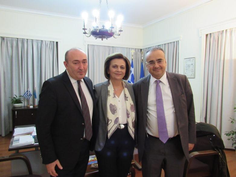 Συνάντηση της υφυπουργού Εσωτερικών Μ. Χρυσοβελώνη με προέδρους Δικηγορικών Συλλόγων Αθήνας και Βόλου