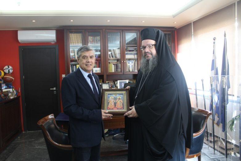 Συνάντηση περιφερειάρχη Θεσσαλίας με το νέο μητροπολίτη Λαρίσης και Τυρνάβου