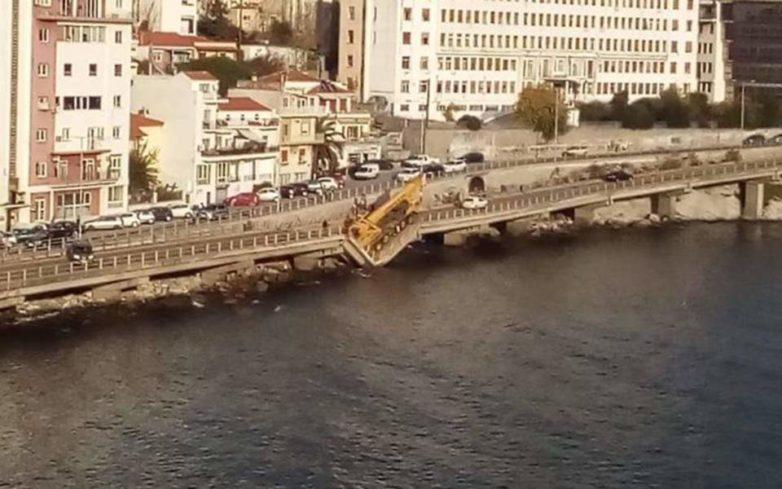 Κατέρρευσε τμήμα γέφυρας στην Καβάλα