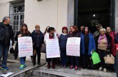 Παράσταση διαμαρτυρίας σωματείων του ΠΑΜΕ στα Δικαστήρια του Βόλου