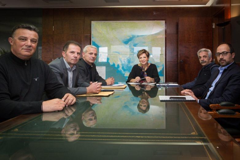 Συνάντηση υπουργού Προστασίας του Πολίτη Όλγας Γεροβασίλη με εκπροσώπους της ΠΟΑΣΥ