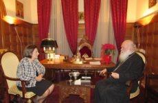 Συνάντηση υφυπουργού Εσωτερικών Μ. Χρυσοβελώνη, με τον Αρχιεπίσκοπο Αθηνών και Πάσης Ελλάδος Ιερώνυμο
