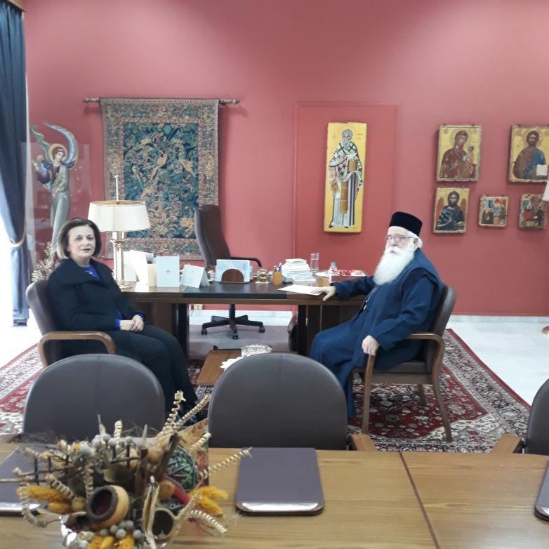Συνάντηση υφυπουργού Εσωτερικών Μ. Χρυσοβελώνη με τον μητροπολίτη Δημητριάδος και Αλμυρού Ιγνάτιο