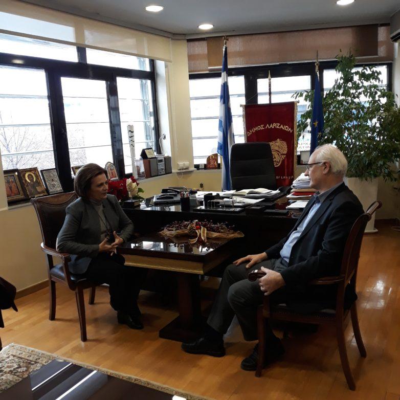 Στην Λάρισα η υφυπουργός Εσωτερικών  Μ. Χρυσοβελώνη