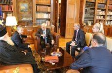 Ο Πρόεδρος της Δημοκρατίας Προκόπης Παυλόπουλος τον Απρίλιο στη Νέα Αγχίαλο