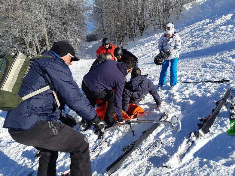 Δύο άτομα τραυματίστηκαν στο Χιονοδρομικό Κέντρο Πηλίου