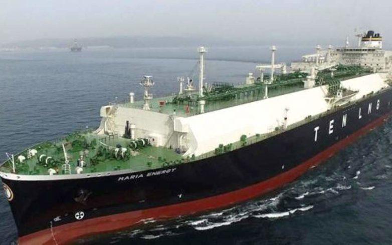 Η Ρεβυθούσα «υποδέχθηκε» το πλοίο «Maria Energy» με το υγροποιημένο φυσικό αέριο