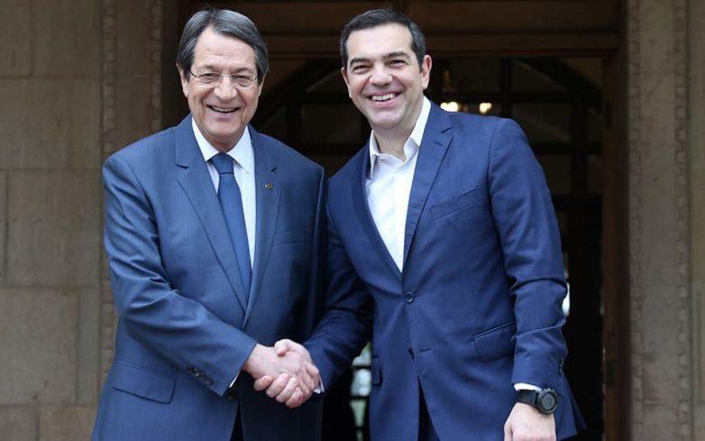 Τσίπρας σε Αναστασιάδη: Η συμφωνία των Πρεσπών θα βοηθήσει και για βιώσιμη λύση στο Κυπριακό
