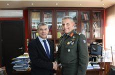 Συνάντηση περιφερειάρχη Θεσσαλίας με το νέο διοικητή της 1ης Στρατιάς