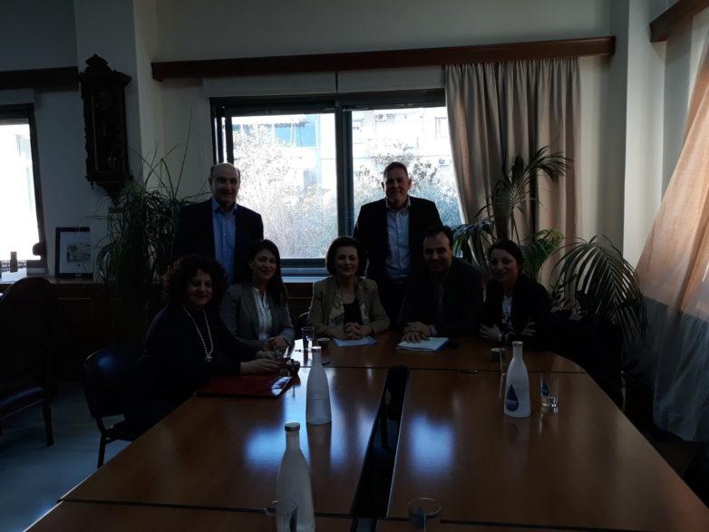 Επίσκεψη εργασίας της Μ. Χρυσοβελώνη στα Τρίκαλα