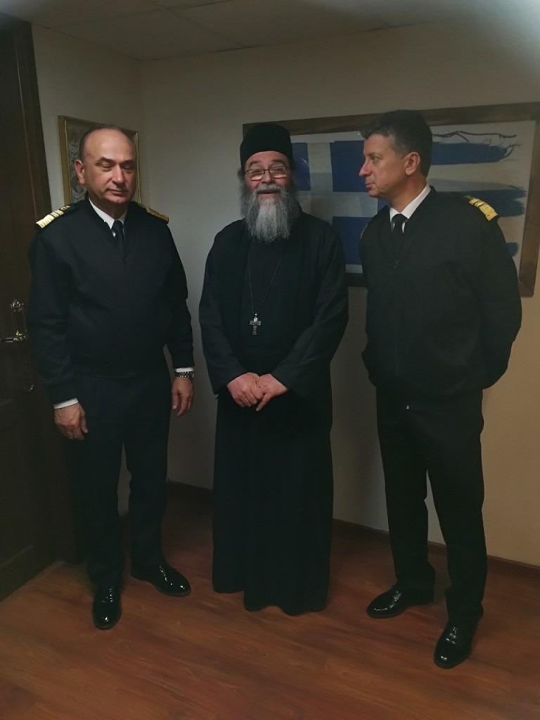 Επίσκεψη στο Αρχηγείο του Λιμενικού Σώματος-Ελληνικής Ακτοφυλακής από συνεργάτες του «Εσταυρωμένου»