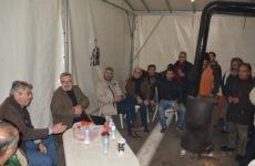Επίσκεψη Β. Μπούτα στο Μπλόκο Νίκαιας
