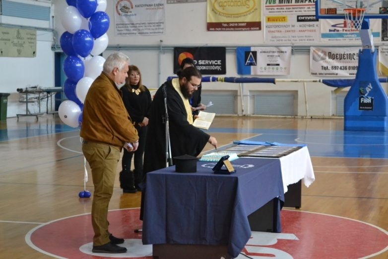 Κοπή πίτας της Νίκης Βόλου με υπογραφή σύμβασης για το «Παντελής Μαγουλάς»