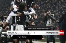 Νίκη τίτλου για τον ΠΑΟΚ, 3-1 τον Ολυμπιακό στην Τούμπα