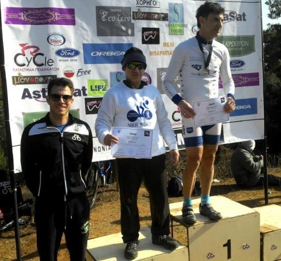 Μετάλλιο για το τμήμα ποδηλασίας της Νίκης Βόλου σε αγώνα στη Θεσσαλονίκη