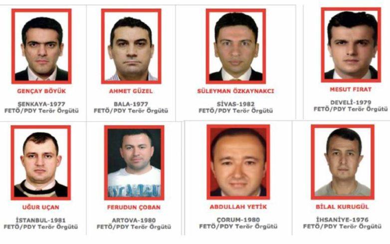Η τουρκική κυβέρνηση επικήρυξε τους οκτώ Τούρκους στρατιωτικούς