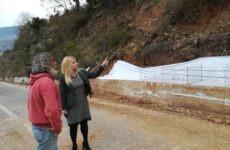 Αυτοψία στο έργο «Συντήρηση της οδού Αγριά – Δράκεια – Χάνια» η Δωροθέα Κολυνδρίνη