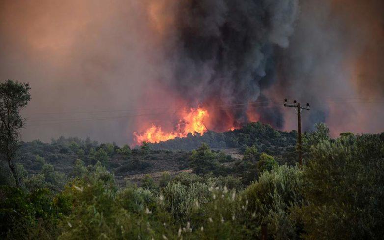 Φωτιά σε δασική έκταση στην Ανάβρα του Δήμου Αλμυρού