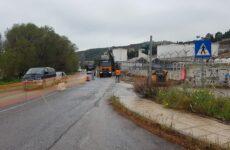 Διακοπή κυκλοφορίας για τις εργασίες στον κυκλικό κόμβο στα Αστέρια Αγριάς