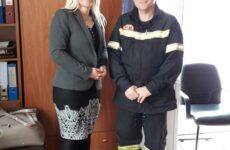 Επίσκεψη Δωροθέας Κολυνδρίνη στην Πυροσβεστική Υπηρεσία