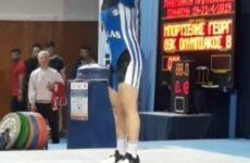 Δεύτερη θέση για τον Γιώργο Μπορτσέλη του Ολυμπιακού Βόλου στην άρση βαρών
