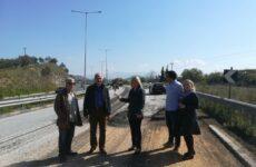 Αυτοψία Δωροθέας Κολυνδρίνη στις εργασίες της Εθνικής Οδού Λάρισας – Βόλου