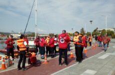 Άσκηση  της ΕΟΔ Μαγνησίας με τραυματισμό εργάτη σε πλωτό γερανό