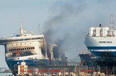 Εγκατάλειψη πόστου στο φλεγόμενο πλοίο