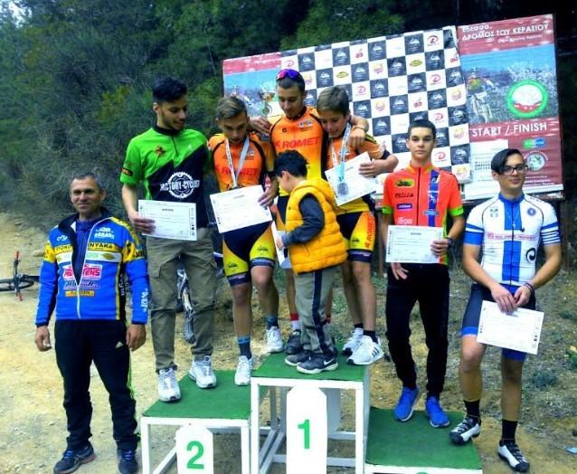 Εξαιρετική εμφάνιση του τμήματος ποδηλασίας της Νίκης Βόλου σε αγώνες στην Έδεσσα