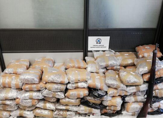 Πάνω από (100) κιλά ακατέργαστης κάνναβης κατασχέθηκαν στην ευρύτερη περιοχή της Λάρισας