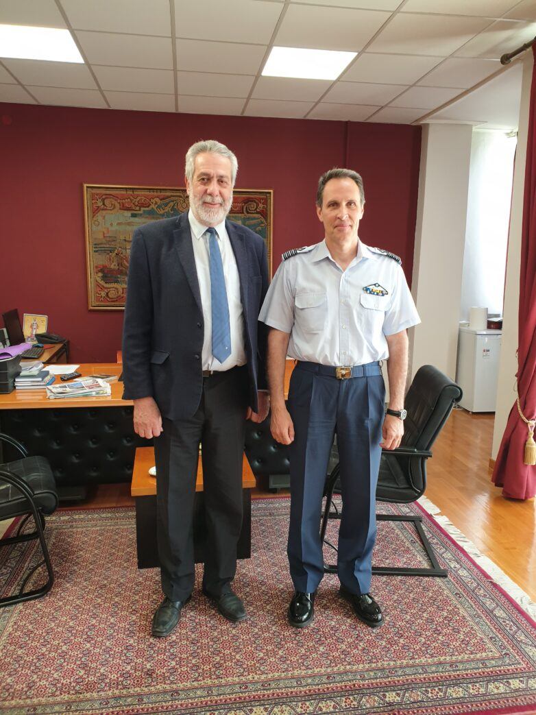 Συνάντηση δημάρχου Αλμυρού με το νέο Διοικητή της 111 Πτέρυγας Μάχης
